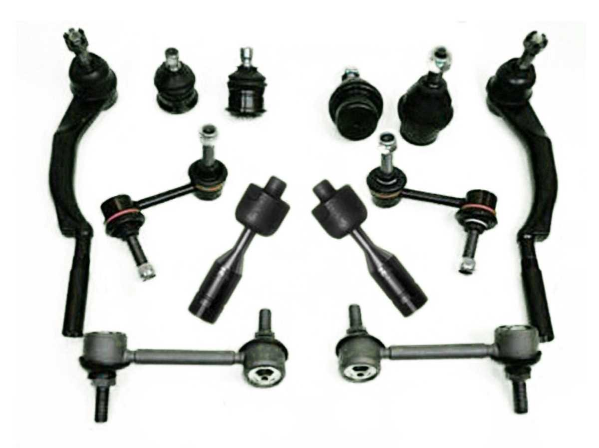 Prime Choice Auto Parts CTSCTS878770 Set of 4 Inner and Outer Tie Rods 4 Upper & Lower Ball Joints and 4 Sway Bars