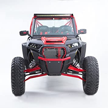 HMF IQ LT parachoques delantero Polaris RZR xp 1000/Turbo/S 1000/S 900 (sin ojo), color rojo: Amazon.es: Coche y moto