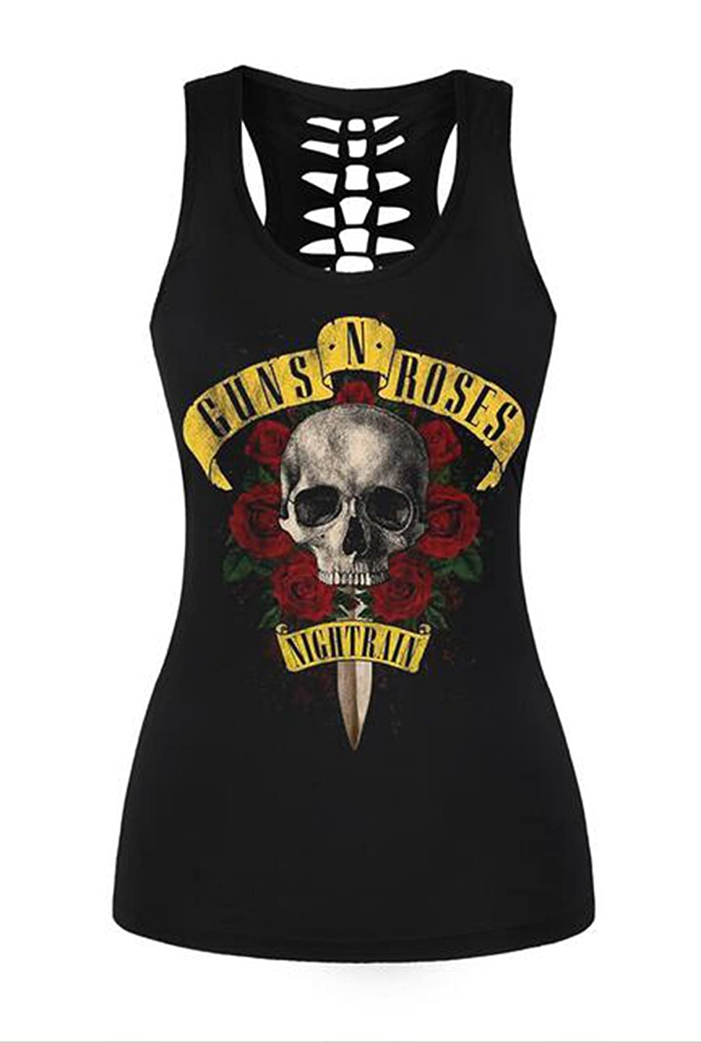 Amazon.com: Piiuiy Yuik Summer Classic Skull 3D Print Tank Top Women O-Neck Sleeveless Vest Black Workout Tops: Clothing