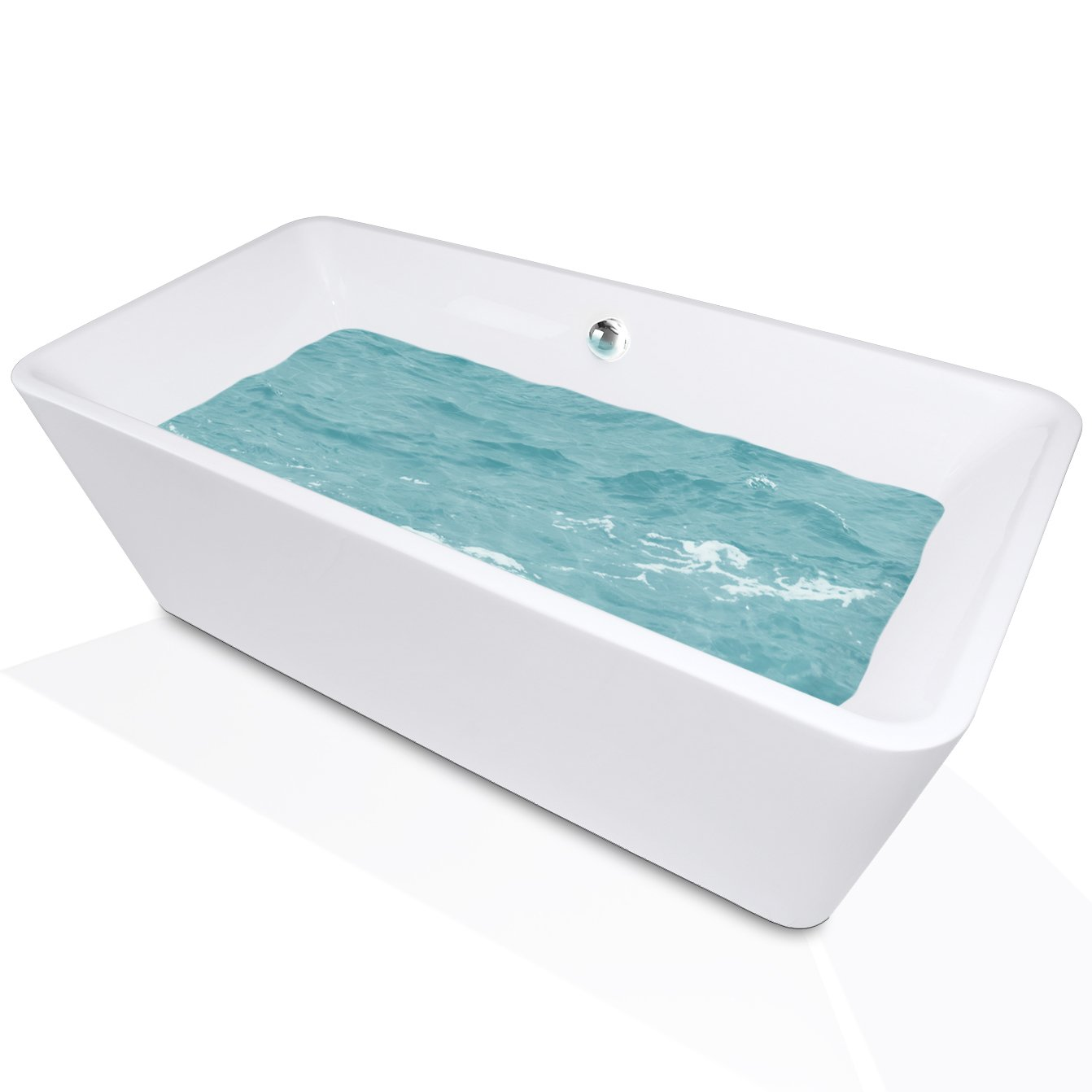AKDY F245 Bathroom White Color Free Standing Acrylic Bathtub ...