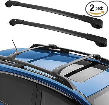 Amazon Com Yitamotor Roof Rack Cross Bars Compatible For 2014 2020 Subaru Forester 2013 2019 Crosstrek 2012 2019 Impreza With Side Rails Rooftop Luggage Cargo Bag Carrier Crossbars Carrying Bike Canoe Kayak Automotive
