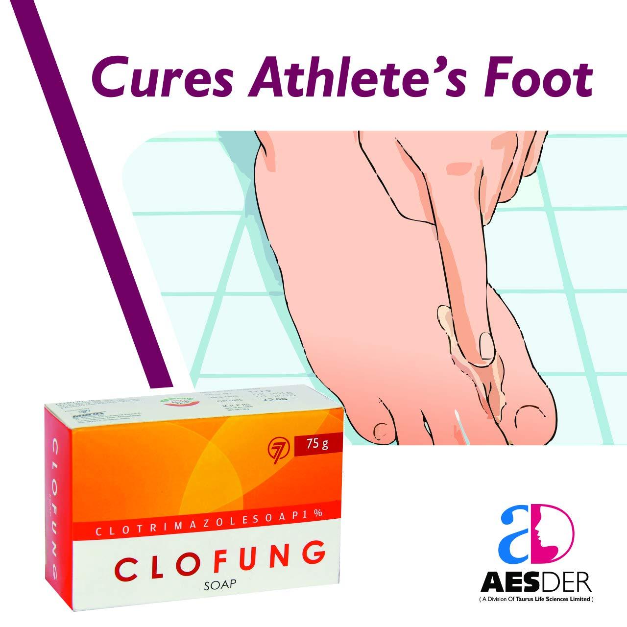 AESDER Clofung Antifungal Soap Anti Itching Soap