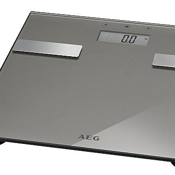 AEG PW 5644 7-en-1 de diseño de una báscula de baño Badwaage báscula Peso báscula Digital de-cepilladoras Base Grasa Corporal-hasta 180 kg Analyse-WAAGE ...