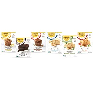 Simple Mills, Baking Mix Variety Pack, Banana Muffin & Bread, Chocolate Muffin & Cake, Pumpkin Muffin & Bread Variety Pack, 3 Count & Snacks Variety Pack, Fine Ground Sea Salt, 3 Count