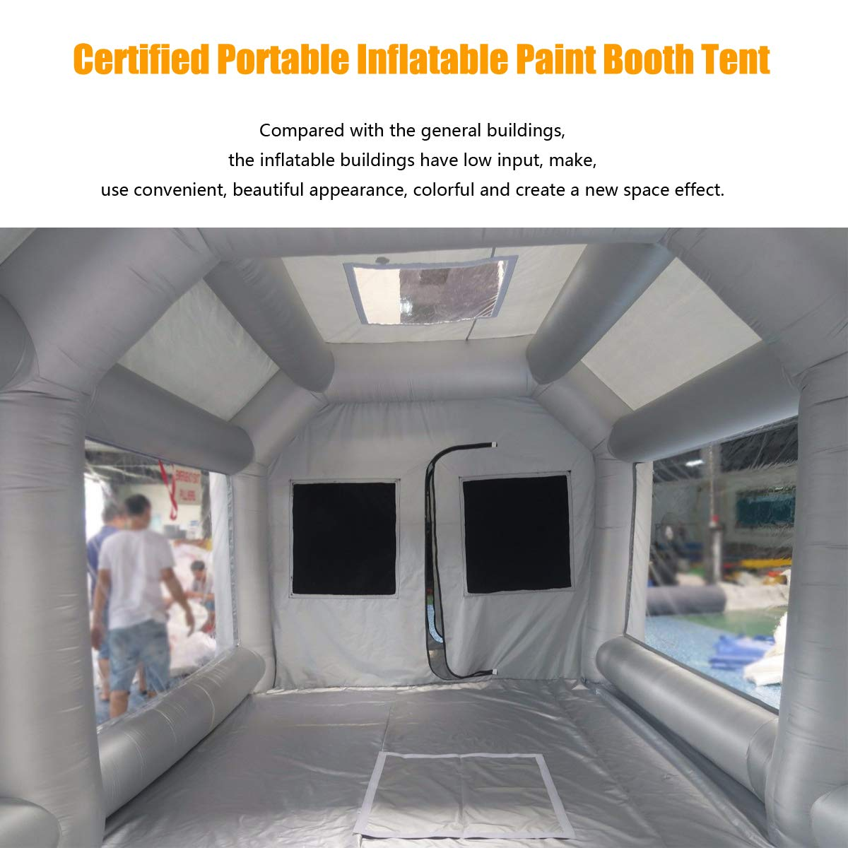 4x2.5x2.2M Inflatable Spray Booth Tents Inflatable Paint Inflatable Car Parking Tent Workstation