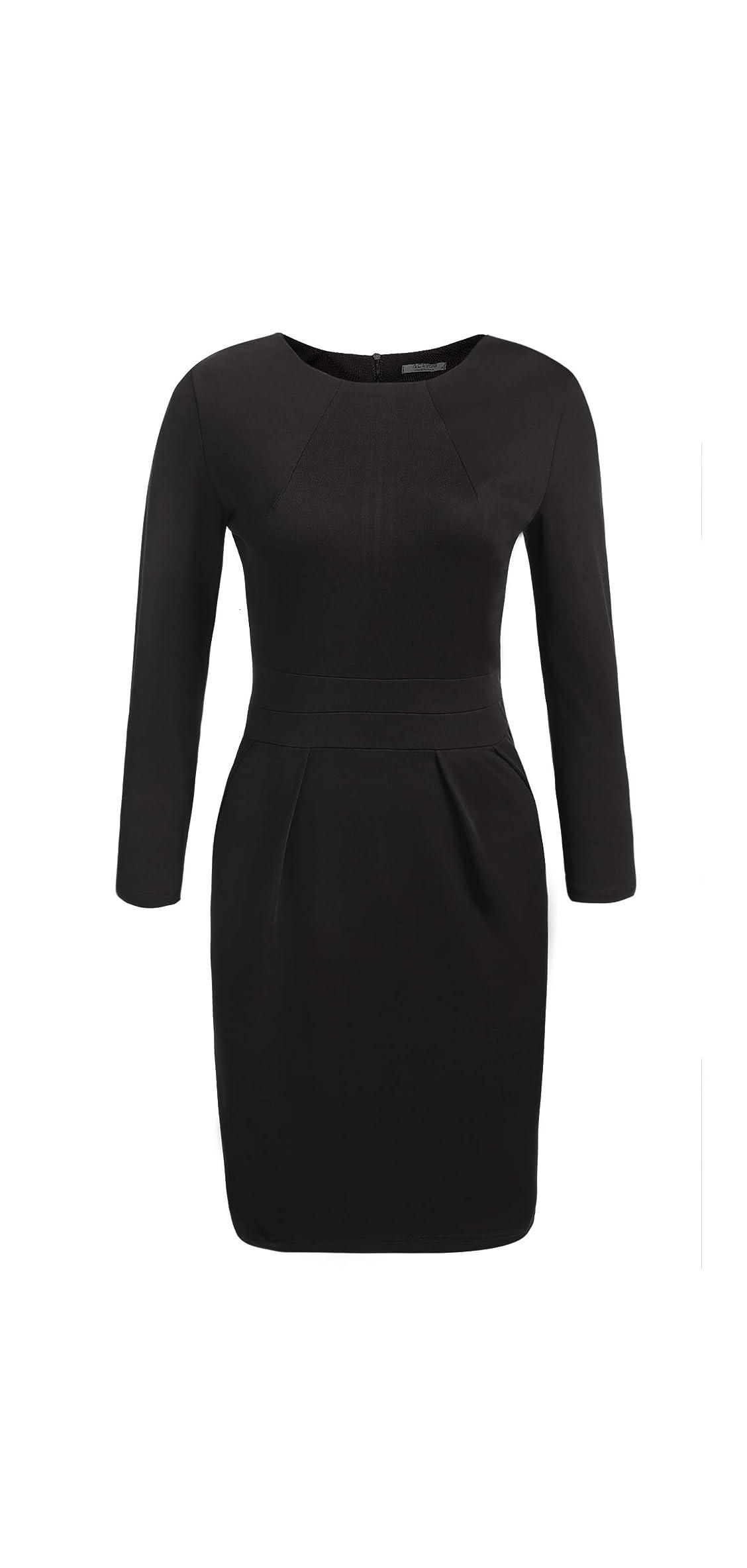 Women's Work Dress Official Wear To Work Retro Business