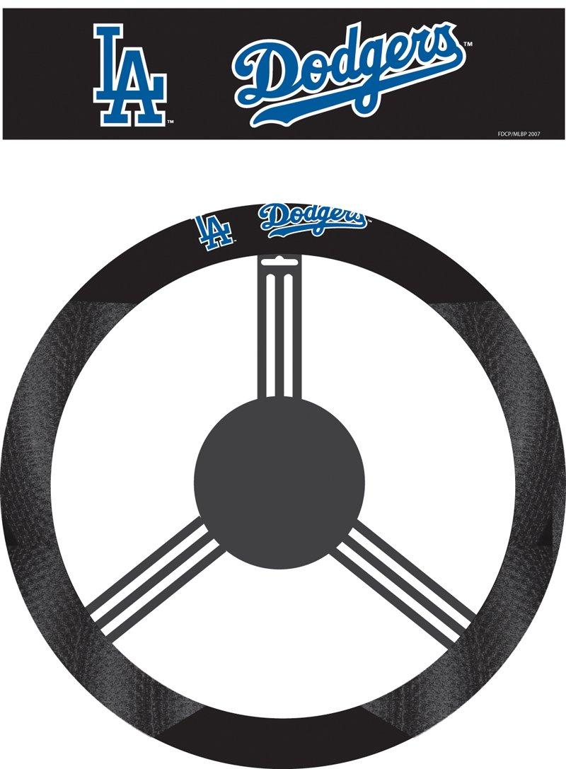 MLB Los Angeles Dodgers Poly-Suede Steering Wheel