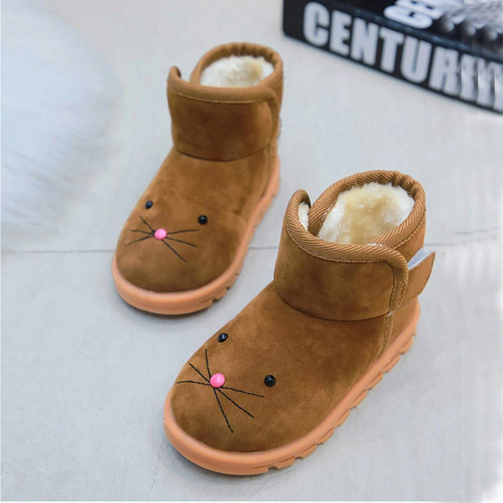 Amazon.com: OCEAN-STORE Winter Warm Children Infants Kid Girls Boys 12 Months-6T Cartoon Snow Short Boots Shoes: Shoes
