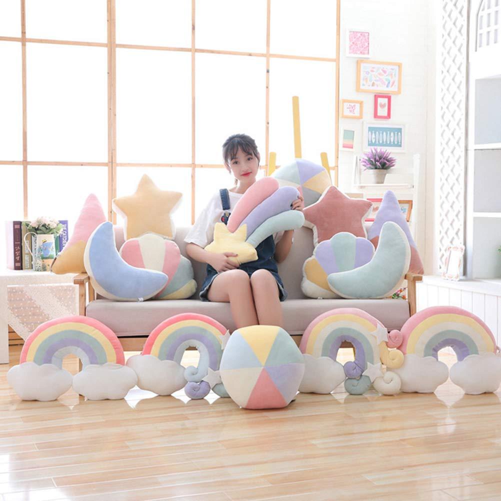 Amazon.com: 1pc Moon Shape Pillow Candy Color Stuffed Soft ...