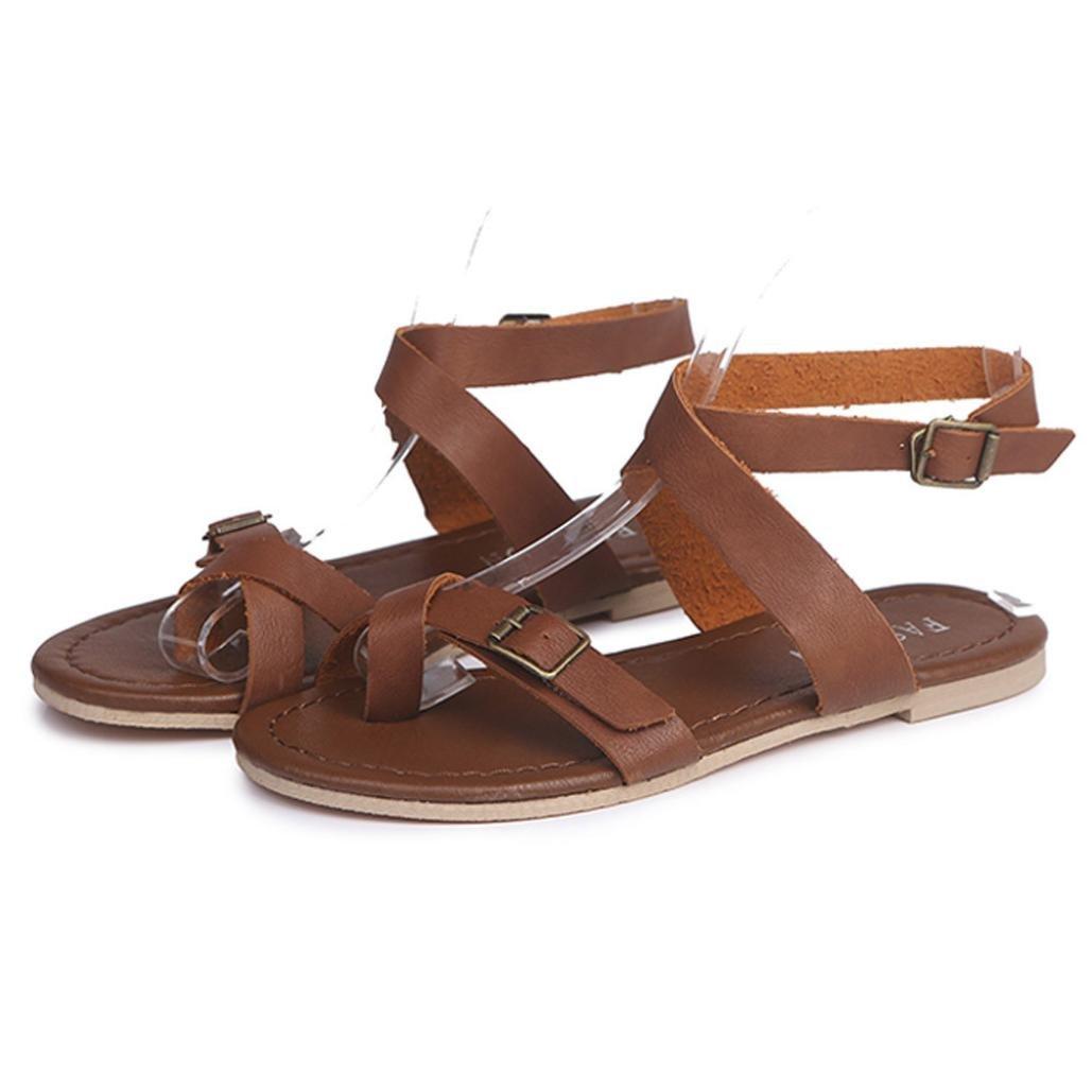 TM Women Flat Wedge Sandals Wedge Girl Summer Causal Shoes Flip Flops Slippers Elevin