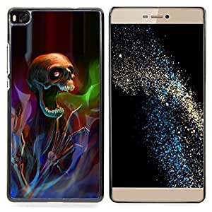 Stuss Case / Funda Carcasa protectora - Death Metal pesado del rock oscuro - Huawei Ascend P8 (Not for P8 Lite)