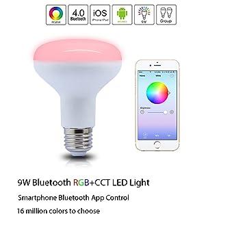SHYU 9W Bluetooth Smart Led Flood Light Bulb-Smartphone Controlled ...