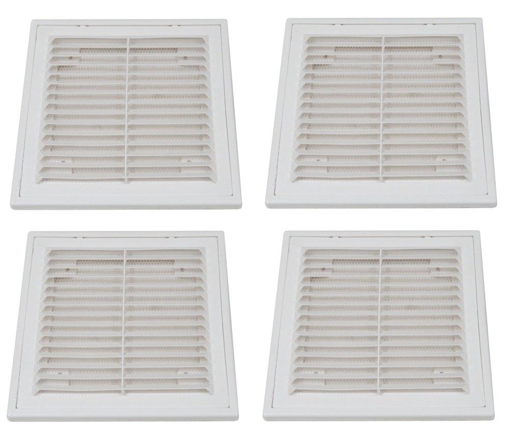 Aerzetix 4 grilles da/ération ventilation carr/ées en plastique 15//15cm
