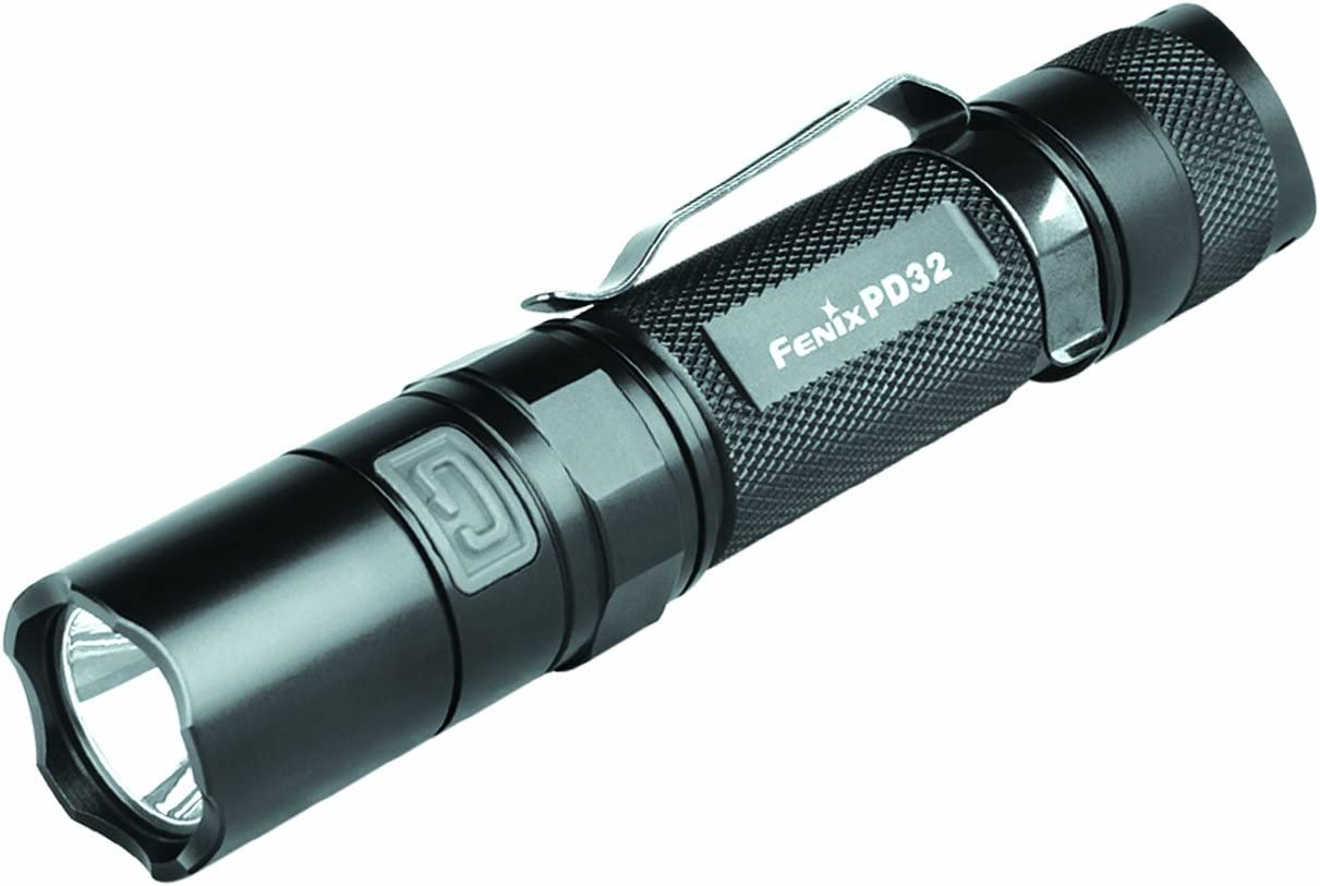 Uses two CR123A or 18650 Fenix PD32 900 Lumens 2016 Edt Tactical LED Flashlight