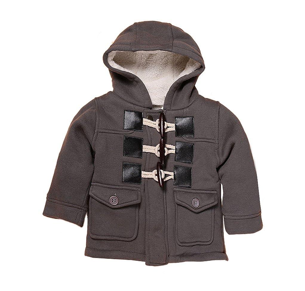 2ebadc522 Amazon.com: YUFAN Toddler Little Boys Winter Fleece Lined Coat Sherpa Lined  Hoodie Toggle Jacket: Clothing