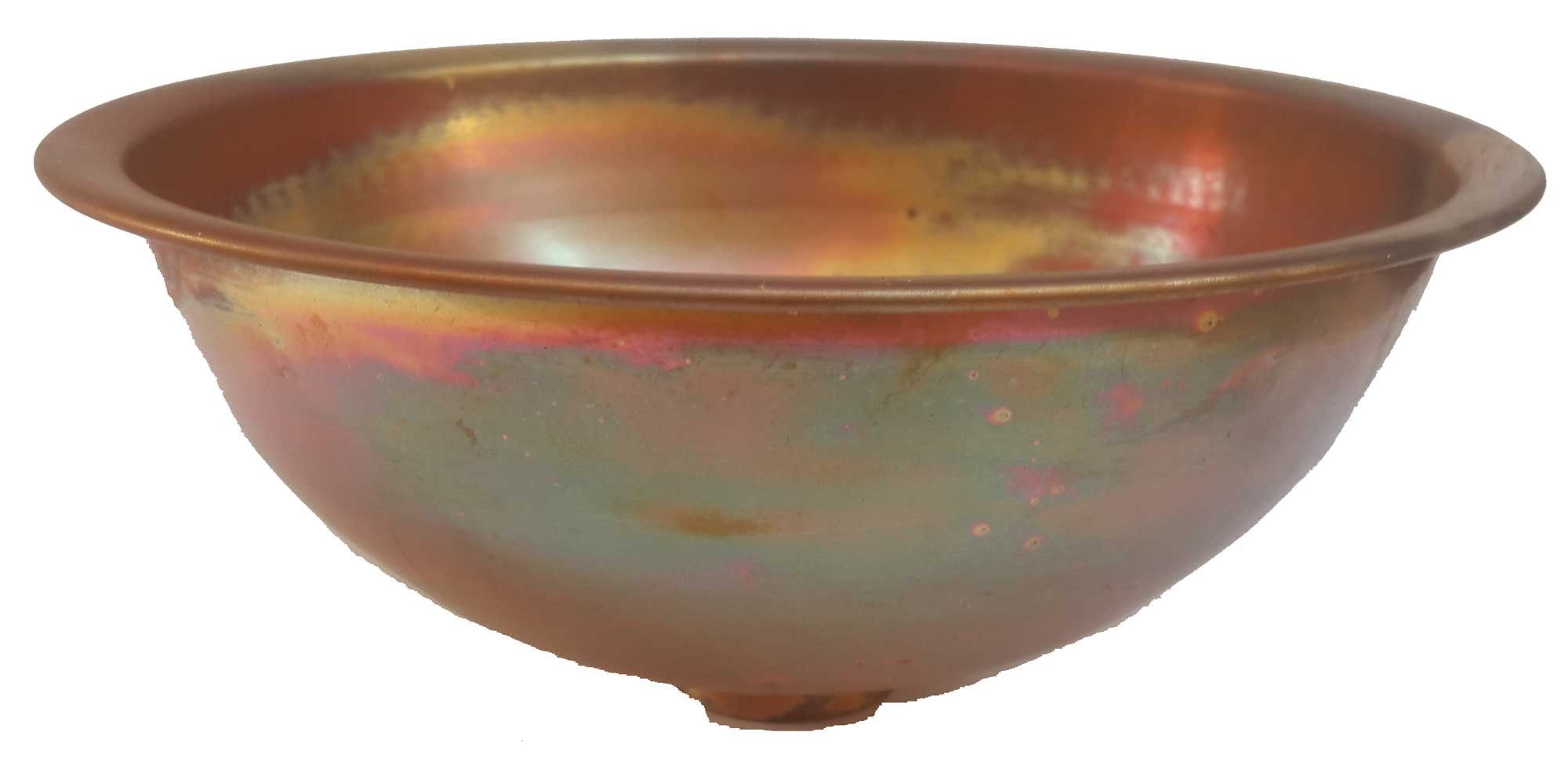 Egypt gift shops Satin Smooth Very Small Compact Copper Bowl Basin Toilet Bathroom Sink Lavatory Cabin Motor Van Caravan Portable Home Renovation by Egypt gift shops (Image #4)