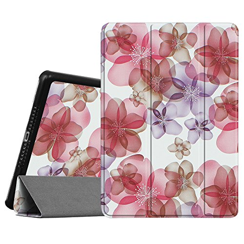 Fintie iPad Air 2 Case (2014 release) - [SlimShell] Ultra Lightweight Stand Smart Protective Cover with Auto Sleep / Wake Feature for Apple iPad Air 2, Floral Purple
