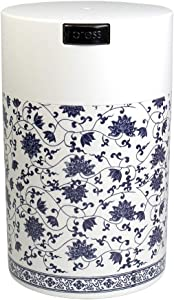 Tightpac America, Inc. CFV2-SWWF Coffeevac 1 lb - The Ultimate Vacuum Sealed Coffee Container, White Floral,