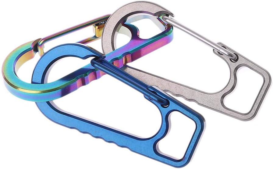 Yunso Locking Karabinerhaken Titanium Alloy EDC Outdoor Keychain Karabiner Camping Wandern Fr/ühling Schnalle Haken