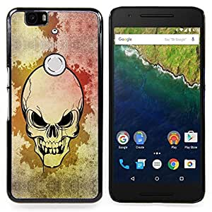 - cool scary skull art Goth blood evil/ Duro Snap en el tel????fono celular de la cubierta - Cao - For Huawei Nexus 6P