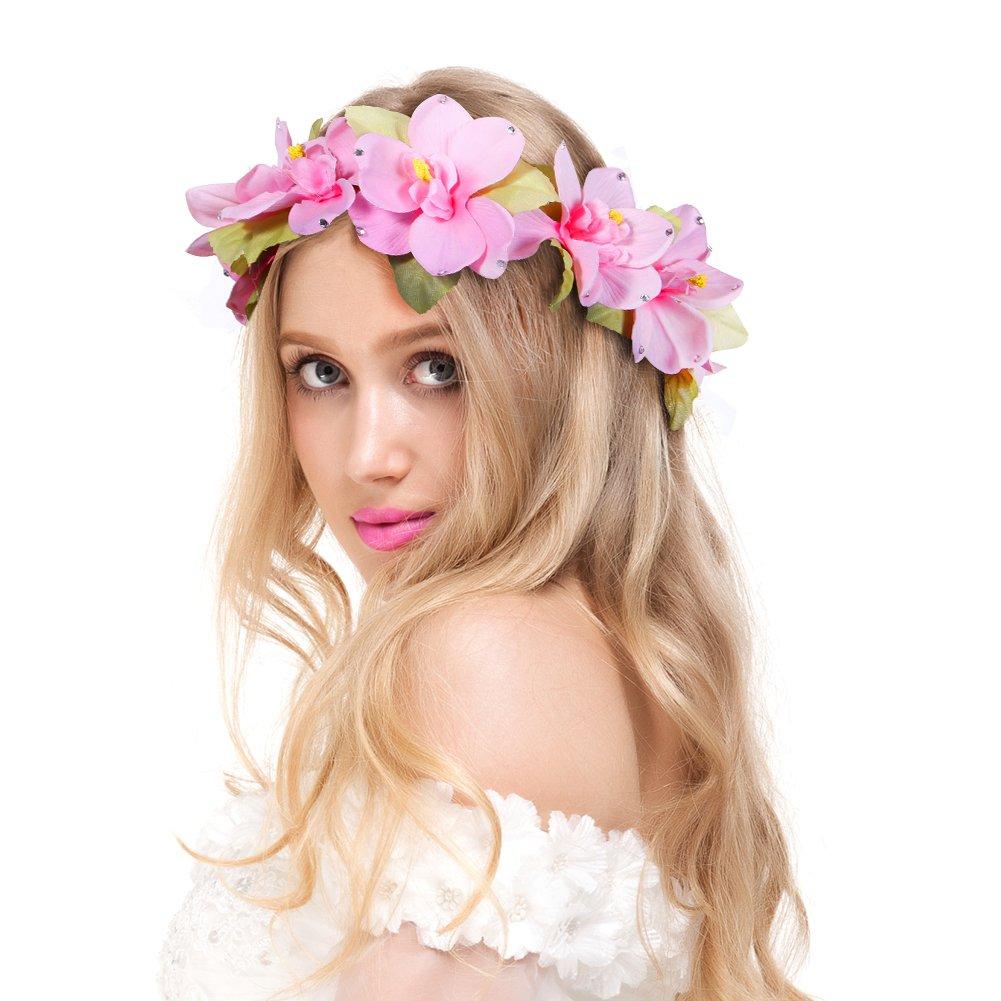 Amazon Valdler Plumeria Flower Headband Crown Garland Halo For