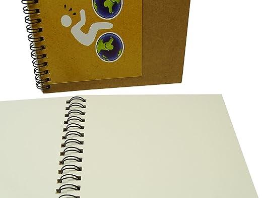 Zebra Spiral Writing Notizbuch A5 Kompositionsbuch Notebook Einfache Bl/ätter Kraftpapier Hardcover 70 Bl/ätter Packung mit 2 St/ück