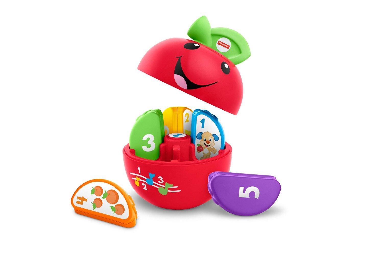 Fisher-Price La Pomme pour Compter, jouet pour apprendre à bébé les chiffres et les couleurs, avec sons, chansons et phrases, 6 mois et plus, DYY26