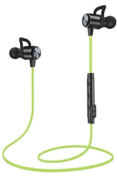 Auriculares Bluetooth ATGOIN Cascos Bluetooth magnéticos y deportivos, Auriculares inalámbricos con Bluetooth 4.1 para running