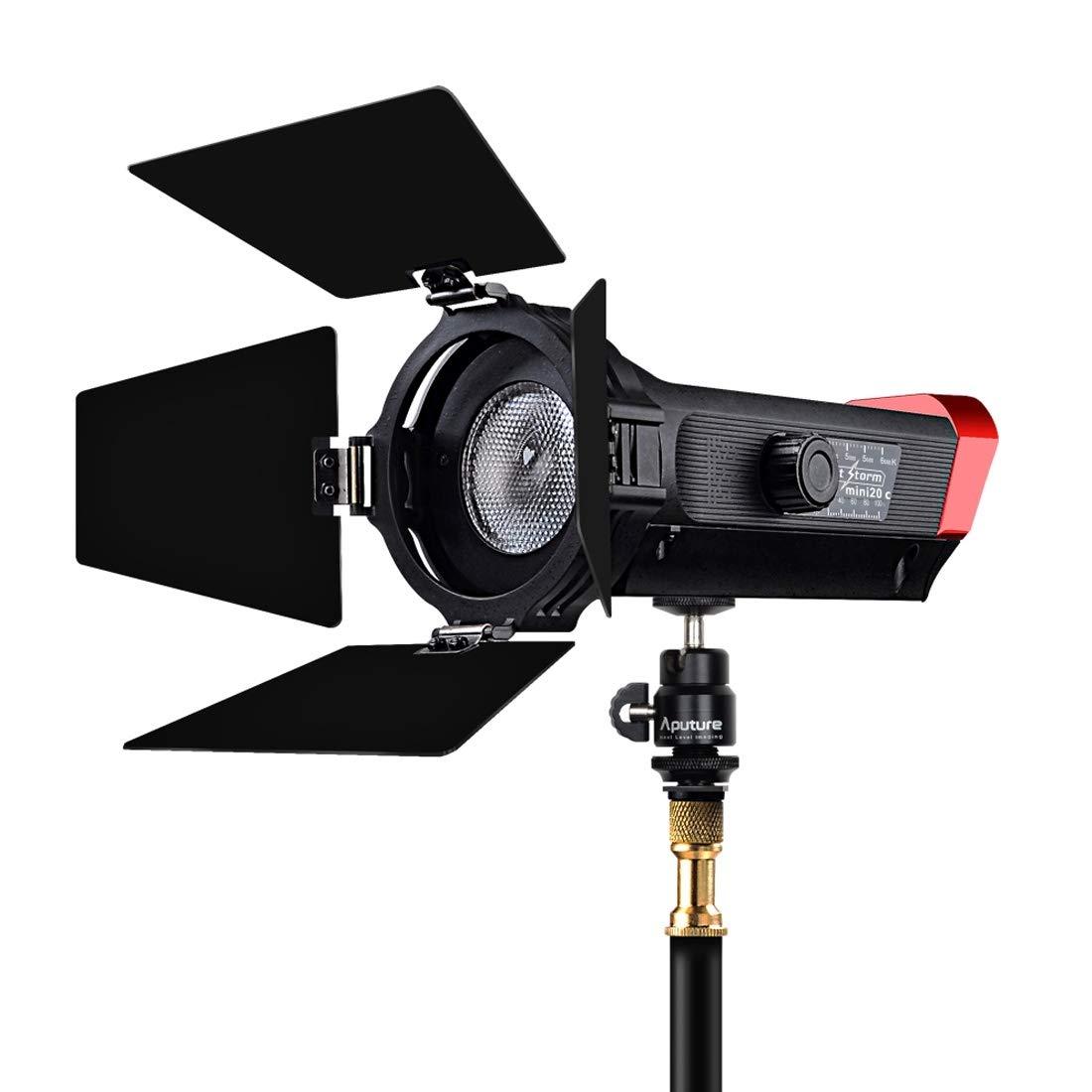 ライトストームハイカラーレンディションTLCI 97 7500K +/- 300Kビームアングル調整可能COB LEDスタジオビデオライト,   B07N6CX1PC