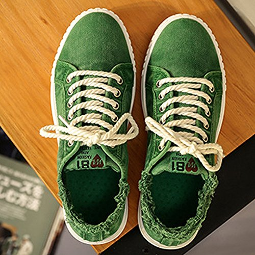 da Unisex Denim Sportive Lace Top Uomo Scarpe Scarpe Casual da Green up Lovers Style Cricket Piatte Canvas Low qw8Xw5Ppn