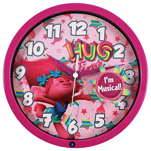 Trolls Musical Wall Clock 8 Inch