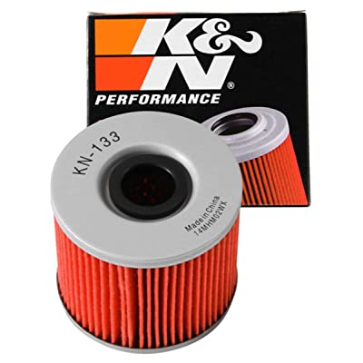 K&N Motorcycle Oil Filter: High Performance, Premium, Designed to be used with Synthetic or Conventional Oils: Fits Select Suzuki, Bimota Vehicles, KN-133: Automotive