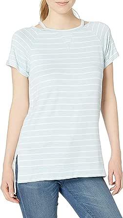 Calvin Klein Performance Women's Short Sleeve Split Neck Top