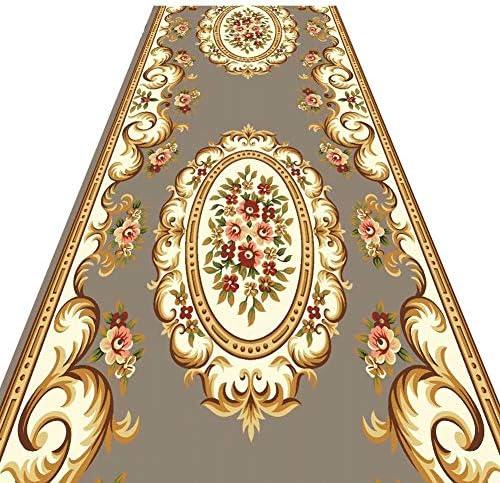 階段 滑り止めマット 廊下のカーペット耐汚染性 伝統的なペルシャスタイル 保護フロア 無臭 簡単にきれいに 階段マット (Color : D, Size : 0.8x2.5m)