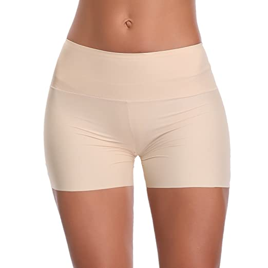 336971273e Boy Shorts Underwear for Women Boxer Briefs Tummy Control Panties Shapewear  Seamless (Beige