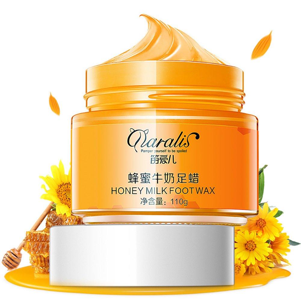 Paraffin Milk & Honey Moisturizing Peel Off Foot Wax Mask Hydrating Exfoliating Nourish Whitening Hand & Foot Mask Skin Care 110g Petit Tourbillon