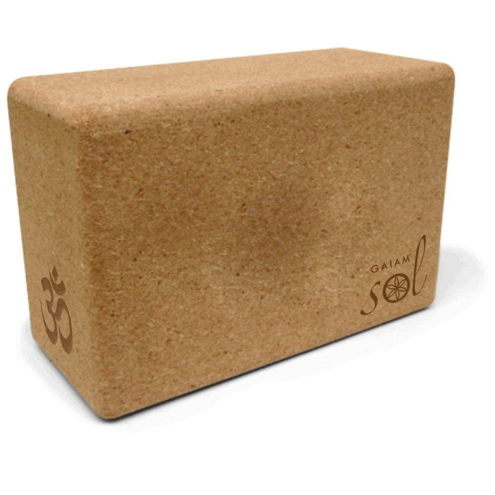 Gaiam Sol Natural Cork Yoga Block [並行輸入品]   B074DG8N4D