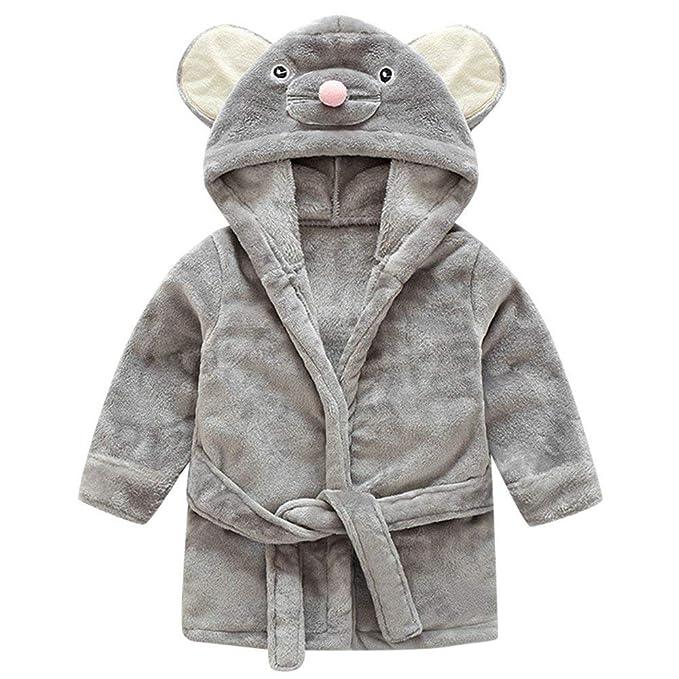POLP Albornoz Mujer Hombre Niño Niña Capa Pijama casa camisón con Capucha Bata de Baño Ropa