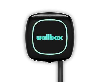 Wallbox Pulsar Cargador para Coches eléctricos. Tipo 2. Potencia máxima 22 kW. (Negro, Cable 5 m)