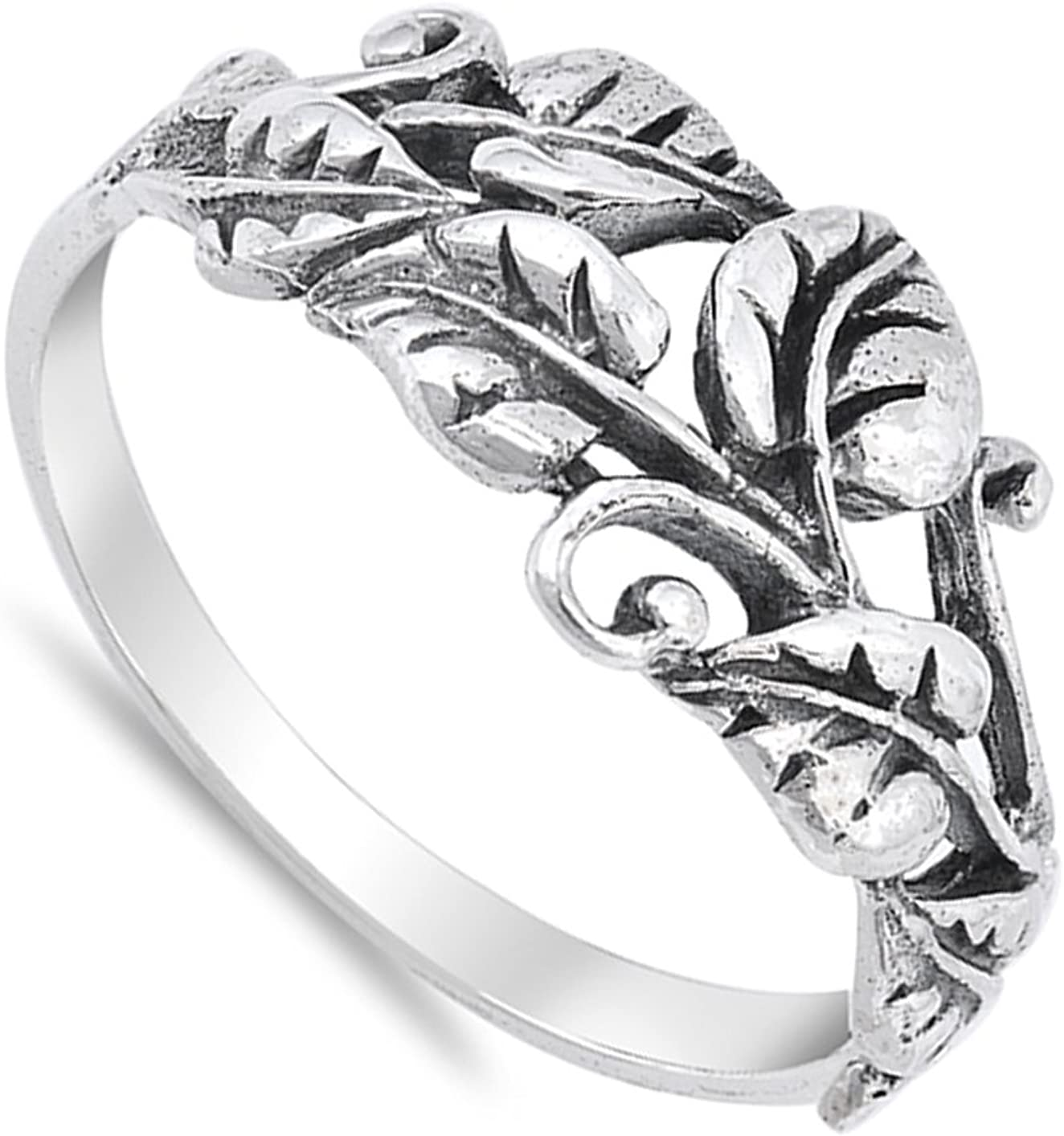 925 Sterling Silver 7mm Design Edge Size 5 to 12 Band Ring