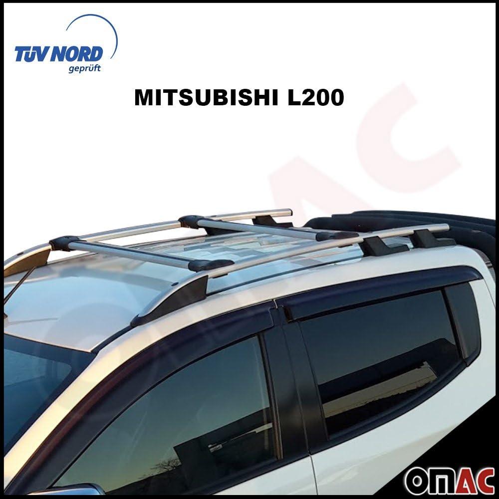 Für Mitsubishi L200 Sport Dachreling Dachträger Schwarz TÜV ABE ab 2015