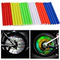 Oumers Cycling Wheel Spoke Reflector Clips, Reflective Mount Clip Tube Warning Strip Made with 3M Scotchlite Reflective Material