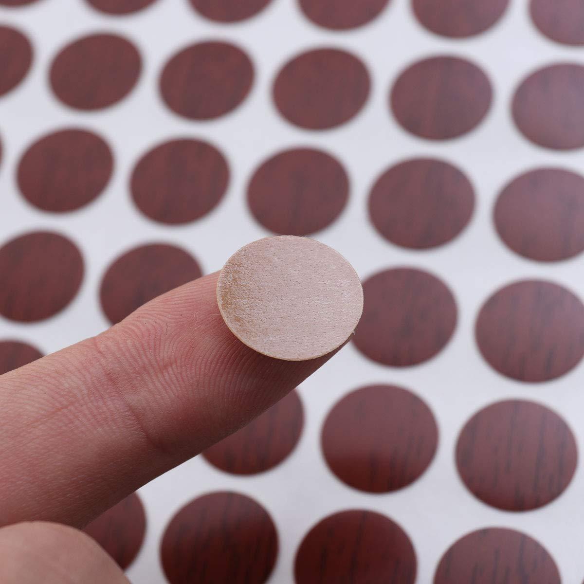 LIOOBO Tornillo Impermeable Cubiertas del Agujero Antideslizante Pegatinas Decorativas 15 mm 96 unids 3 Hojas