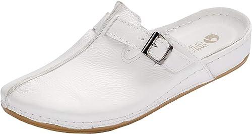 CLINIC DRESS Leder Clogs Fußbett Arbeitsschuhe Arzt Klinik