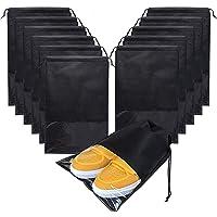 15 Pcs Large Travel Storage Shoe Bags, Waterproof Shoe Bag for Gym,Travel, Portable Shoe Pouch Organizer Non-Woven…