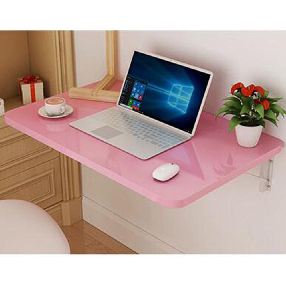 XIAOLIN ベークドペイントウォールマウント折りたたみテーブルダイニングテーブルウォールテーブルコンピュータのデスクブックテーブルオプションの色、サイズ (色 : ピンク ぴんく, サイズ さいず : 70*40cm) B07DWKBBFN 70*40cm|ピンク ぴんく ピンク ぴんく 70*40cm