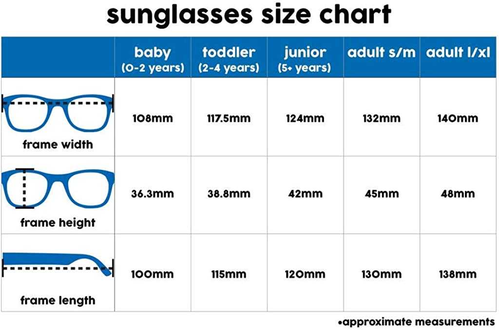 Lunettes de soleil incassables UV400-5-12ans B/éb/é Unisexe Roshambo Baby