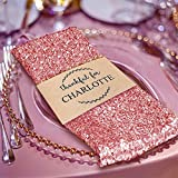 Efavormart 5 PCS Blush Premium 20'' x 20'' Washable Sequin Napkins Great for Wedding Party Restaurant Dinner Parties Decoration