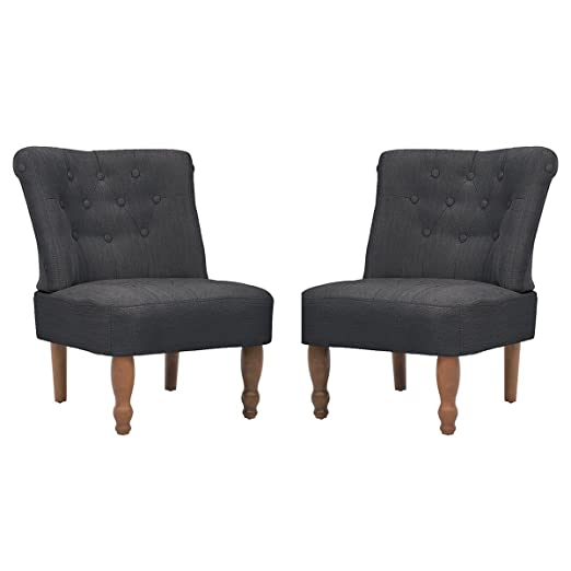 Vidaxl 2 Stuck Paar Sessel Grau Gefasstenerbreiter Sessel