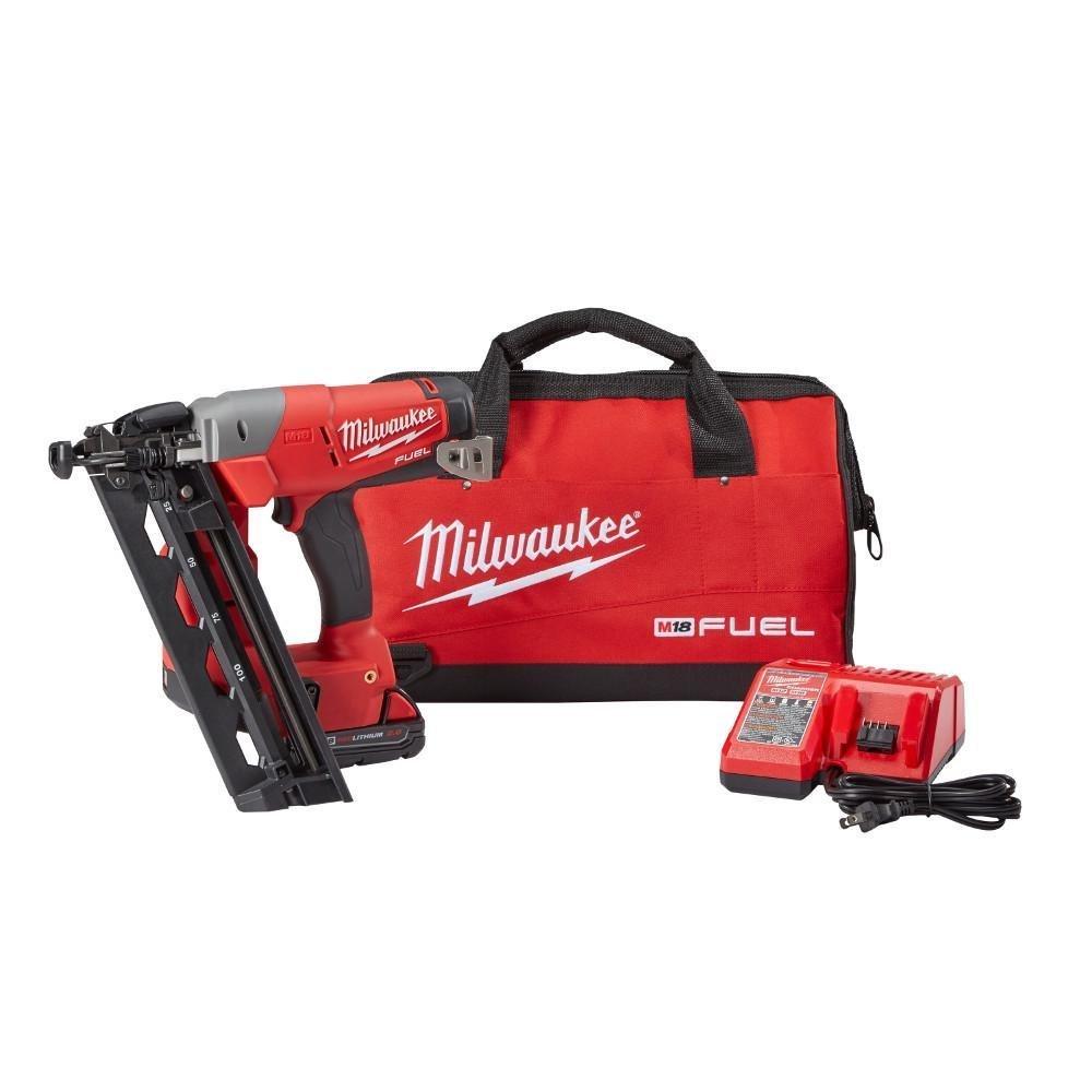 Milwaukee Electric Tool 2741-21CT Milwaukee M18 Fuel 16 Gauge Straight Finish Nailer, Plastic, 1'' x 11.9'' x 3.2''